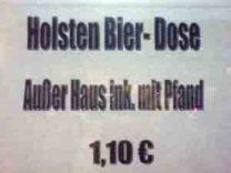 Außer Deutsch mit Pfand